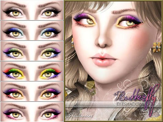 Sims 3 eyeshadow, makeup