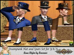 Sims 3 hat, steampunk, accessory