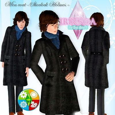 Sims 3 coat, male, clothing, outerwear