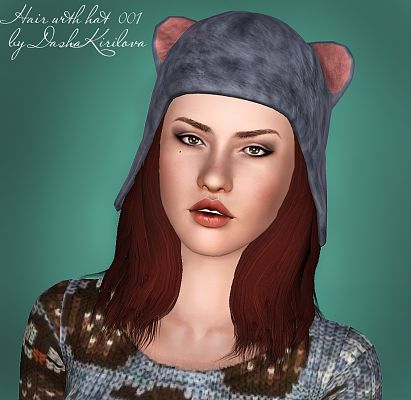 Sims 3 hair, hairstyle, hat, headwear, genetics, female