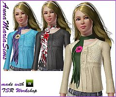 Sims 3 floweres scarf, sweater