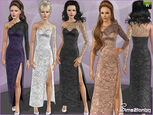 Sims 3 dress, gown, formal, fashion