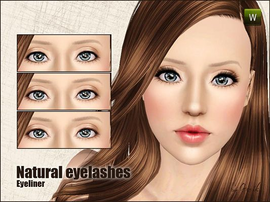 Sims 3 eyeliner, makeup, fashion, female