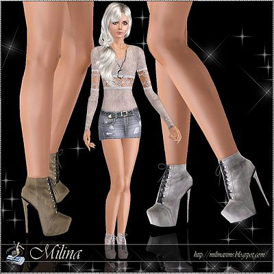 Sims 3 booots, shoes, platform