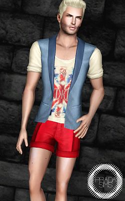 Sims 3 top, clothing, fashion, males, sims 3