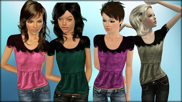 Sims 3 top, clothes, females