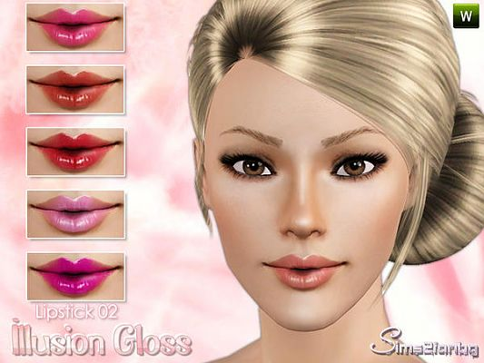 Sims 3 lips, lipstick, gloss, makeup