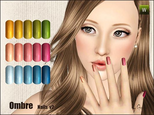 Sims 3 nails, art, accessory