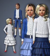 Sims 3 historical, children, cloth, clothes, kids