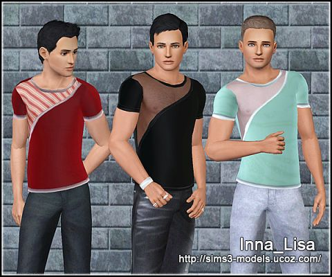Sims 3 outfit, clothing, male, top