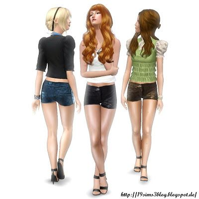 Sims 3 shorts, pants, clothing, fashion