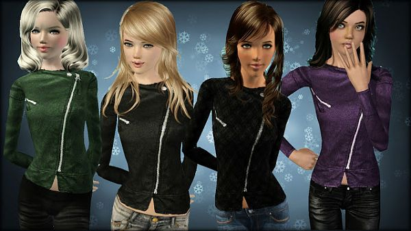 Sims 3 top, clothing, fashion, jacket