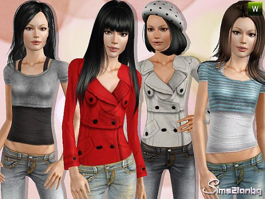 Sims 3 clothing, fashion, teen, sims3