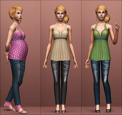 Sims 3 maternity, outfit, clothing, fashion, female