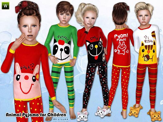 Sims 3 pyjama, children, sleepwear