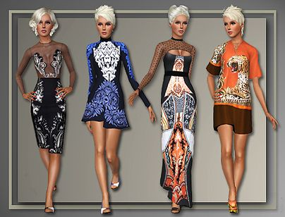 Sims 3 dress, outfit, fashion, clothing, sims 3, designer