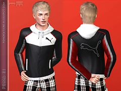 Sims 3 hoodie,top, jacket, sims3, puma, clothing