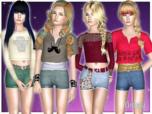 Sims 3 casual, set, clothing