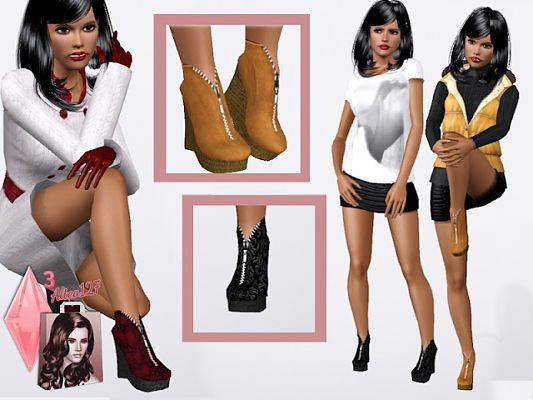 Sims 3 shoes, boots, sims3