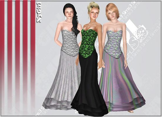 Sims 3 dress, outfit, fashion, clothing, sims 3, evening, gown