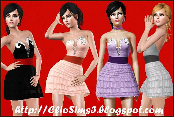 Sims 3 dress, fashion, clothing, casual, female,formal