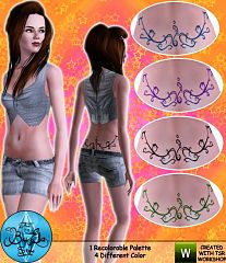 Sims 3 tatoo, female, decor