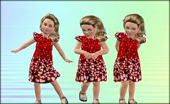 Sims 3 dress, outfit, fashion, clothing, sims 3, toddler, valentine, hearts