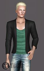 Sims 3 suit, jacket. top, males