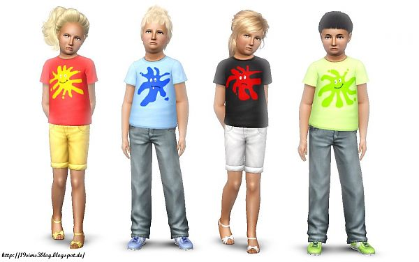Sims 3 tee, t-shirt, clothes, kids