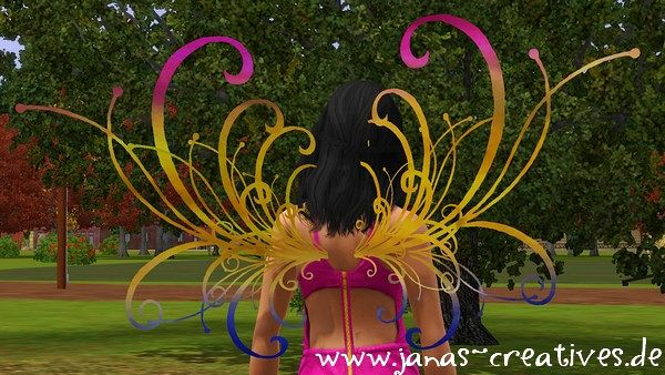 Sims 3 wings, accessory, sims 3