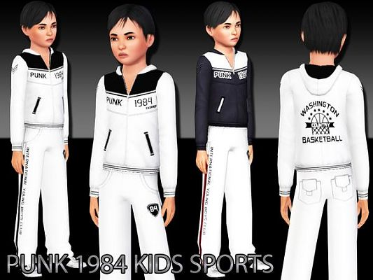 Sims 3 kids, sport, clothing, set