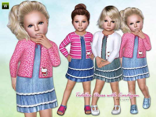 Sims 3 dress, cloth, clothing, outfit, fashion, toddler
