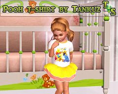 Sims 3 tee, t-shirt, clothes, toddler, femalew