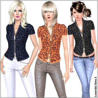 Sims 3 lace, blouse, top, fashion, clothing