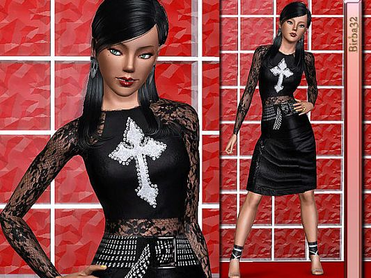Sims 3 top, clothes, fashion, females, skirt