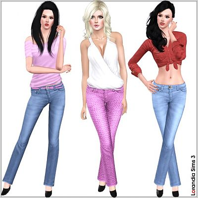 Sims 3 jeans, denim, mid rise, casual, clothing
