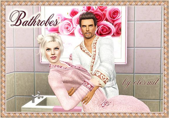 Sims 3 bath, robes, clothing
