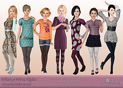 Sims 3 leggings, tights, sims3, knit