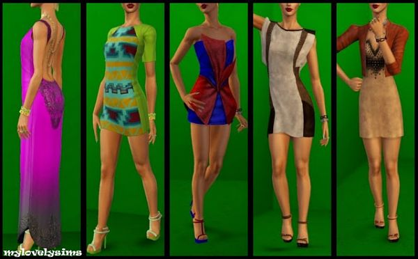 Sims 3 dress, cloth, clothing, outfit, fashion, recolors
