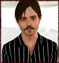 Sims 3 celebrity, johnny deep, sims, male