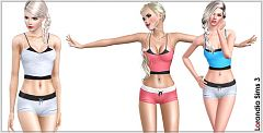 Sims 3 sport, athletic, shorts, tops, clothing