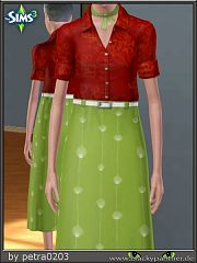 Sims 3 cloth, clothes, top, dress, vest, sleepwear, fashion