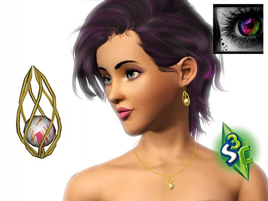 Sims 3 necklace, jewelry, accessories, female
