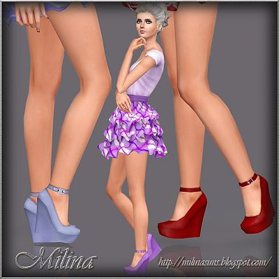 Sims 3 shoes, wedge, platforms