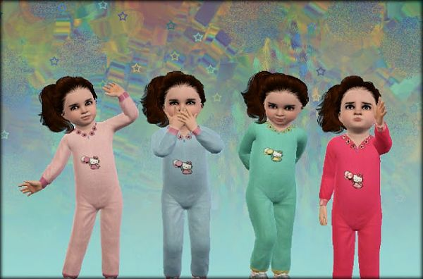 Sims 3 sleepwear, toddler, pj, pajamas