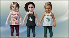 Sims 3 top, outfit, fashion, clothing, casual, female, toddler