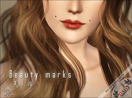 Sims 3 beauty, marks, sims3