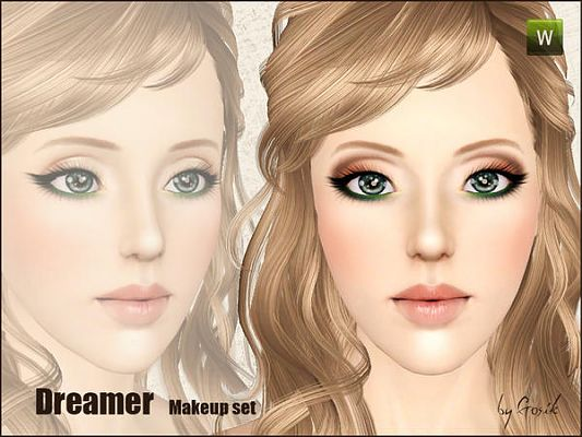 Sims 3 makeup, set, eyeshadow, eyeliner