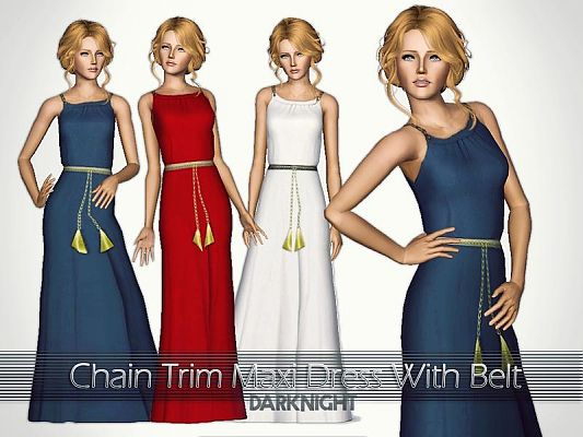 Sims 3 dress, fashion, clothing, casual, female