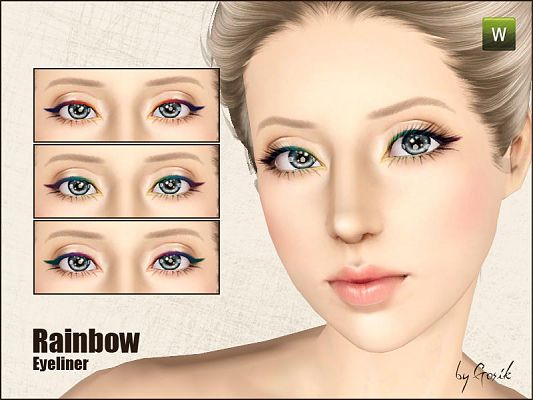 Sims 3 eyeliner, makeup, female, fashion